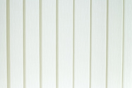 White textile vertical blinds often called jalousie