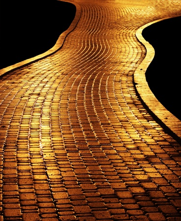 Golden path leading to success Stock Photo