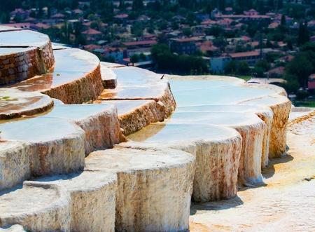 pamuk: Vasche di travertino naturali e terrazze, Pamukkale, Turchia