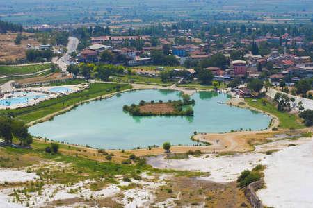 pamuk: Lake near Pamukkale travertines in Turkey