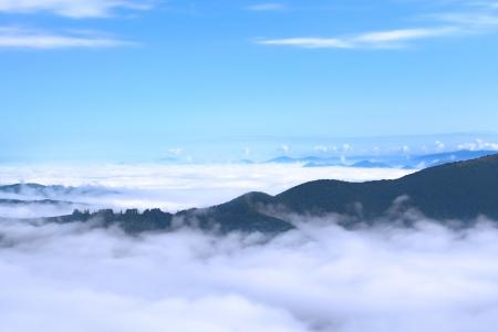 カルパティア山脈の航空写真ビュー