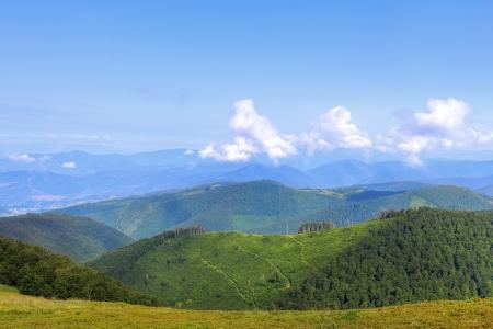 Colorful landscape over ridges of Carpathian Mountains in Ukraine Stock Photo - 14900898