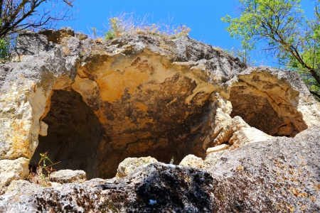 Ancient defensive cave of Chufut Kale in Bakhchisarai, Crimea, Ukraine Stock Photo - 15168000