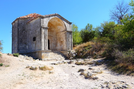 Mausoleum of Djanike-khanym, Chufut-Kale, Crimea Stock Photo - 15167991