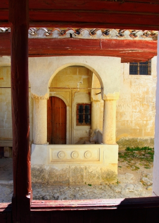 Inside the building in Chufut-Kale in Bakhchisarai, Crimea, Ukraine Stock Photo - 15167914