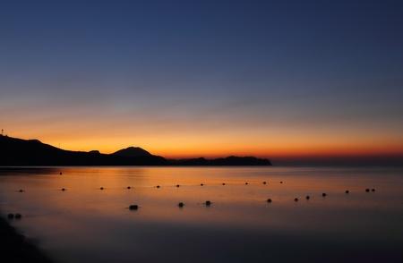 Dawn over the hills of Koktebel, Crimea