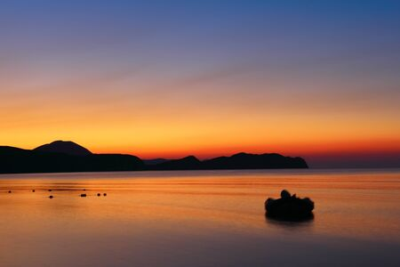 Dawn over the hills of Koktebel, Crimea photo