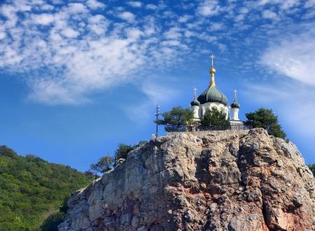 The Church of Christs Resurrection in Foros, Crimea, Ukraine Stock Photo