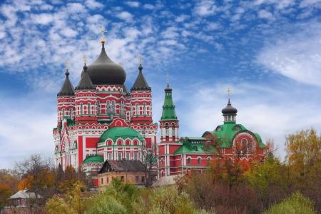 panteleimon: Old orthodox church of Cathedral of St. Pantaleon or St. Panteleimon in Feofania, Kiev Stock Photo