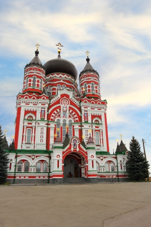 Old orthodox church of Cathedral of St. Pantaleon or St. Panteleimon in Feofania, Kiev Stock Photo
