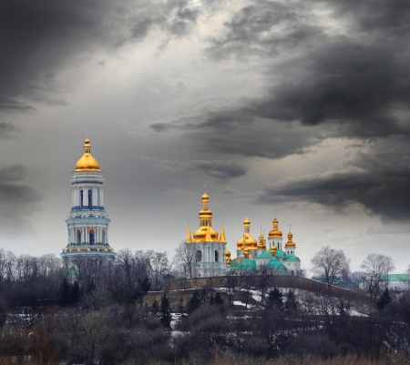 Famous Pechersk Lavra Monastery in Kiev, Ukraine Stock Photo - 18394232