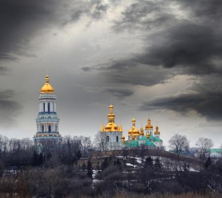 Famous Pechersk Lavra Monastery in Kiev, Ukraine Stock Photo - 18394232