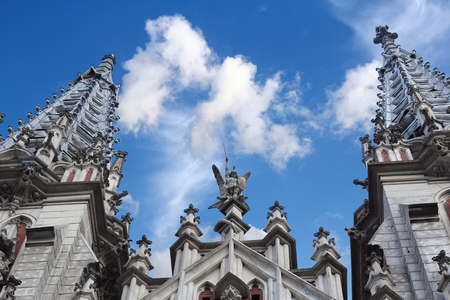 Detail of the catholic church of St  Nicholas in Kiev also known as organ hall Stock Photo - 23994610