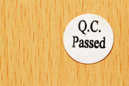 qc: The sticker Quality Control passed meaning that the product has passed quality control tests