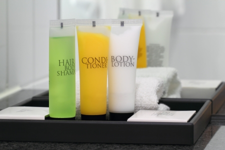 Shampoo conditioner shower gel and body lotion for showering