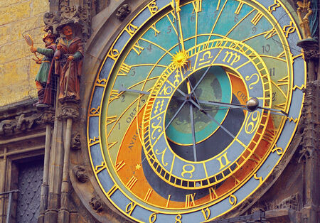 elapsed: Prague Astronomical Clock (Orloj) in the Old Town of Prague