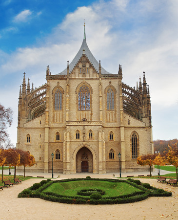 View of Kutna Hora with Saint Barbaras Church  photo