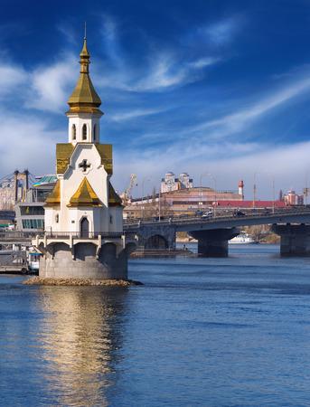saint nicolas: Church on the water in Kiev, named after Saint Nicolas
