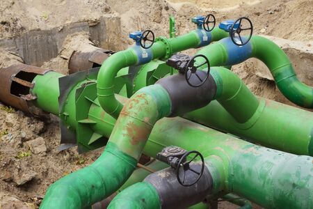 systematic: Planned repairs of municipal tubing. A node with valves.