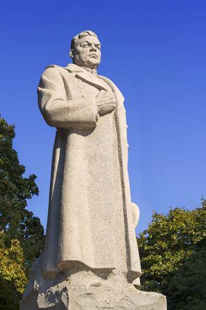 commander: General Vatutin (commander of the First Ukrainian Front) monument in Kiev, Ukraine.