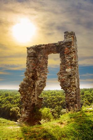 Ruins of the castle in Gubkiv, Ukraine