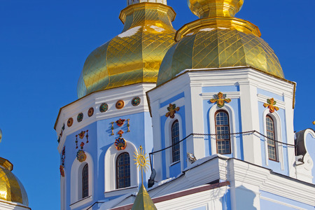 domes: Golden domes of St. Michael Cathedral in Kiev, Ukraine