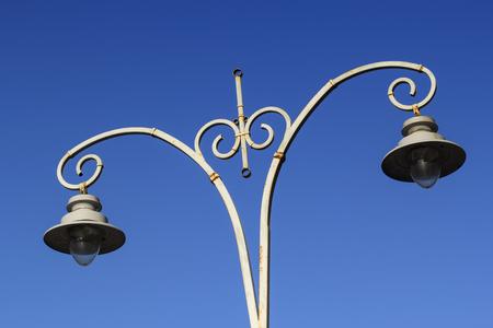 architectural lighting design: Old style street lantern in Kiev, Ukraine Stock Photo