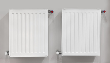 micro climate: Two heating radiators with thermostat. Connection is done through the wall