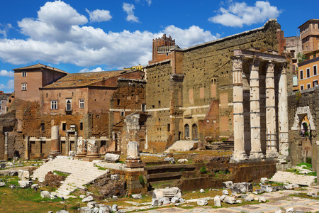 Ancient ruins of Hierapolis in Rome, near Colosseo metro station, Italy