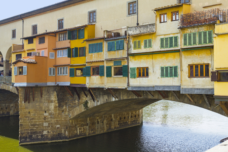 ponte: Ponte Vecchio over Arno river in Florence, Italy Stock Photo