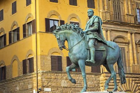 Statue of Cosimo I de Medici, Piazza Signoria, Florence, Italy