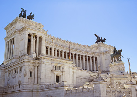 Altare della Patria, National Monument to Victor Emmanuel II the first king of a unified Italy, located in Rome, Italy Stock Photo