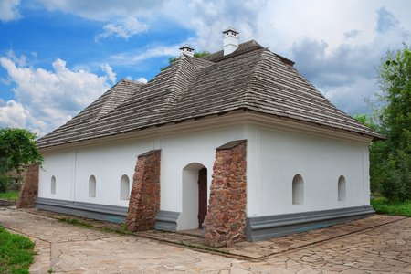 Ancient house at Mamai settlement in Kiev, Ukraine