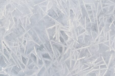 ice water: Detailed pattern of frozen water - ice background.