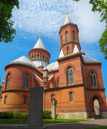 Ancient Aarmenian church in Chernivtsy built in 1875, Ukraine. Armenian church is very popular among tourists.