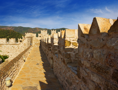 On the wall of the castle of Marmaris in Turkey. Castle of Marmaris is one of the most attended places of the city.
