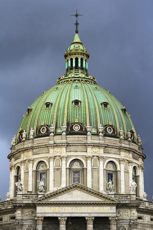 Dome of Frederiks Church also known as Marble Church in Copenhagen, Denmark