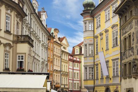 The street at the center of Prague, Czech Republic
