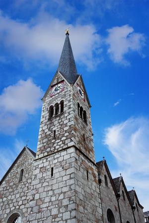 Protestant parish church in Hallstatt, Austria 写真素材