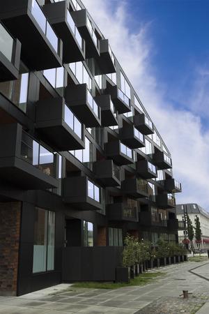 Copenhagen, Denmark - 26 September, 2017: Modern residential buildings in Copenhagen.