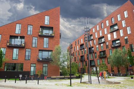 Copenhagen, Denmark - 5 September, 2017: Modern residential buildings in Copenhagen.