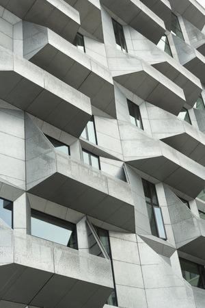 Copenhagen, Denmark - 23 September, 2017: The Silo apartments in Nordhavn area of Copenhagen Editorial