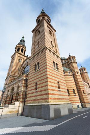 Holy Trinity Cathedral - Orthodox Church in Sibiu, Romania. Stock Photo