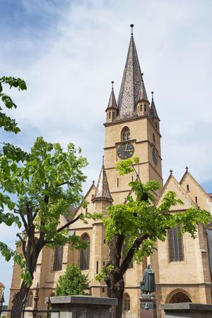 Sibiu, Romania. Lutheran Cathedral of Saint Mary in the center of Sibiu, Transylvania. Stock Photo - 104394827