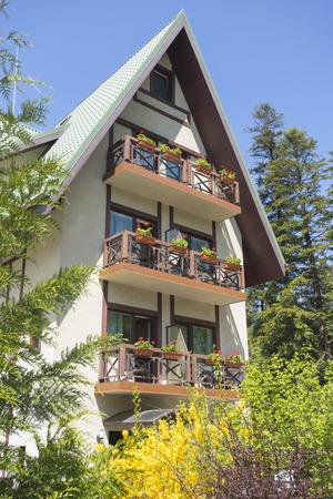 Typical residential house in Sinaia, Transylvania, Romania