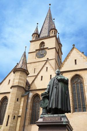 Sibiu, Romania. Lutheran Cathedral of Saint Mary in the center of Sibiu, Transylvania.