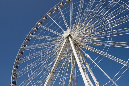 Ferris wheel at the Place de la Concorde in Paris, France Stock Photo
