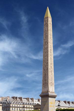 Paris, France: Luxor Obelisk, Egyptian obelisk standing at the center of the Concorde Square.