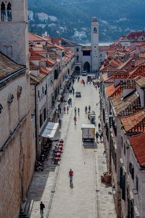 Mornong on the Stradun in Dubrovnik, Croatia