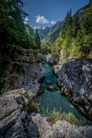 Velika Korita Soce in the Soca River Valley Zdjęcie Seryjne